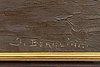 John david bergling, oil on canvas signed.