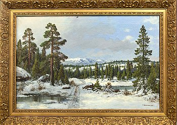 Thorvald Rygaard, oil on canvas signed and dated.