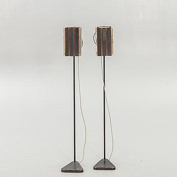 Golvlampor, ett par, Troligen Werner Schou, 1950-60-tal.