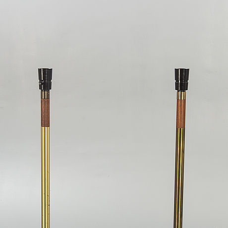 "Jo hammerborg, fog mörup, floor lamps, a pair, ""president"", second half of the 20th century."