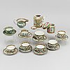 A group of 17 famille rose canton tea service, qing dynasty, late 19th century.