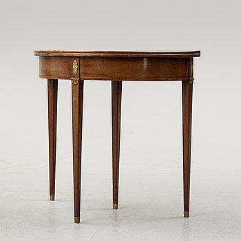 A late Gustavian mahogany card table.