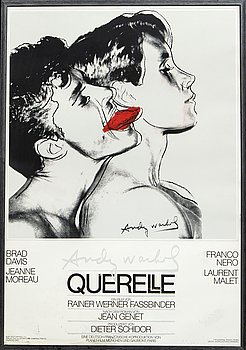 Movie poster, with motif by Andy Warhol, 'Querelle', 1983.