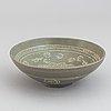 A korean ceramic bowl, koryo, 14-15th century.