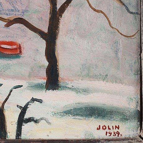 Einar jolin, view over stadshuset, stockholm.