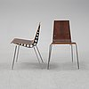 Six chairs, 1980's.
