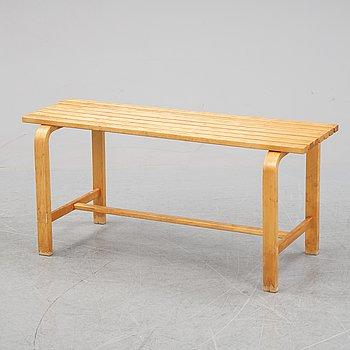 Alvar Aalto, a birch bench, mid 20th Century.