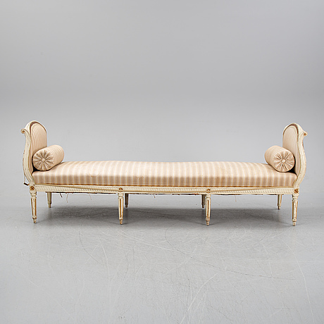 A gustavian sofa, secondhalf of the 18th century.