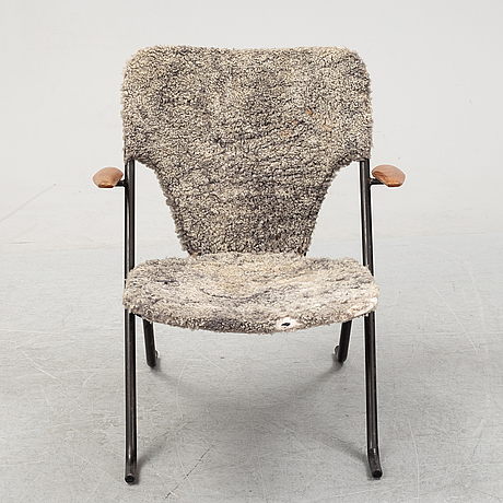 """Fåtölj, """"gåsen"""", herman persson järn- & trämanufaktur, bjärnum, 1950-tal."""