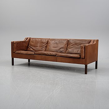 A model 2213 sofa by Børge Mogensen for Fredricia furniture, Denmark, designed 1962.
