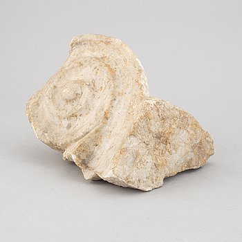 A collection of nine antique marble/stone building fragments.