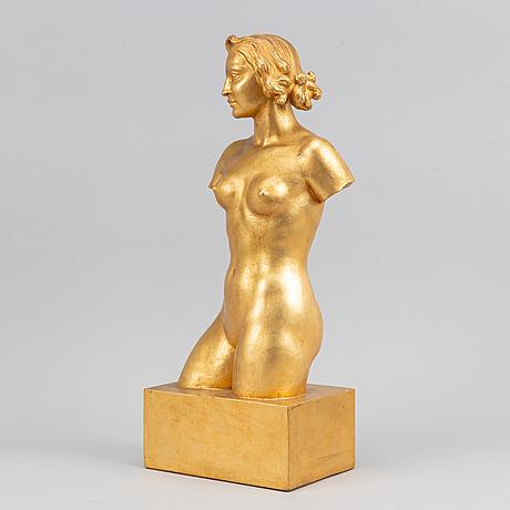 Olof ahlberg, sculpture, plaster, signed.