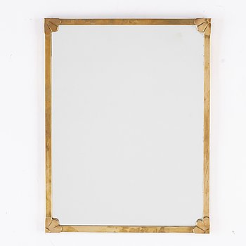 A brass mirror, second half of the 20th century.