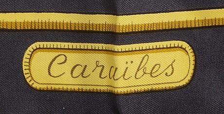 """Hermès, scarf, """"caraibes"""", 1974."""