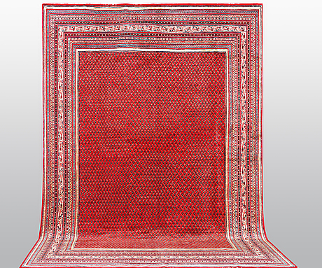 A carpet, sarouk - mir, ca 430 x 305 cm.