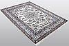 A rug, nain, 9 laa, part silk, ca 212 x 150 cm.