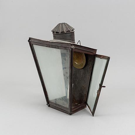 Two lanterns, probably denmark, around the year 1900.