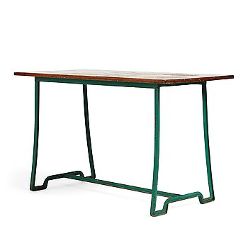 302. Carl Hörvik, an iron and lacquered wood garden table, probably by Grythyttan ca 1927-1929 for Lindgården, Stockholm.