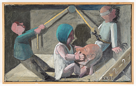Åke norlander, oil on canvas, signed and dated -71.