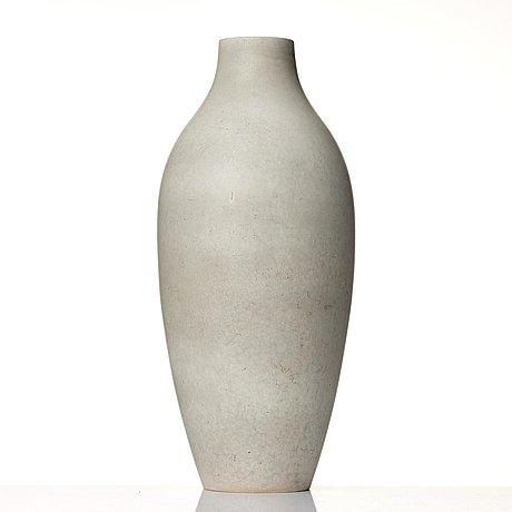 Carl-harry stålhane, a stoneware floor vase, rörstrand, sweden 1950's.