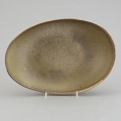 Carl-harry stålhane, a stoneward bowl, rörstrand, 1950's/60's.