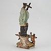 Sakral skulptur, bemålat trä, 1700/1800-tal.