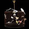 "Mathieu challieres, a ceiling lamp /bird lamp, ""petite volière""."