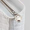 Christian dior, a white leather 'lady dior large shopper'.