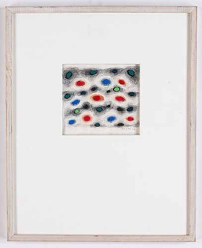 Olle ängkvist,a signed and dated mixed media.