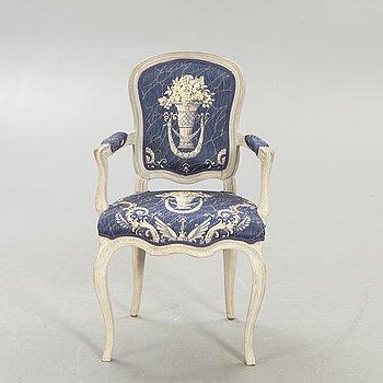 A Rococo armchair mid 1700s.