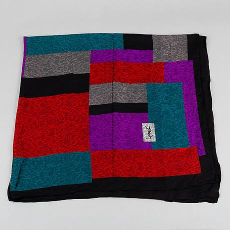 Yves saint laurent, a silk scarf.