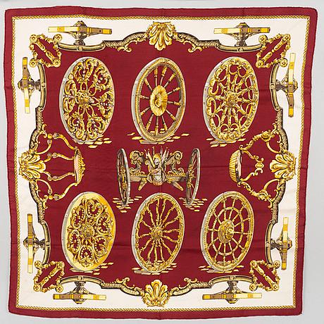 Hermès, a 'roues de canon' silk scarf.