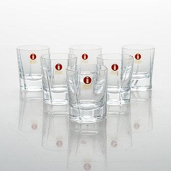 """Tapio Wirkkala, snapsglas, 6 pieces, """"Viva"""", Iittala."""