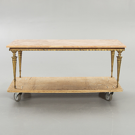 Coffee table / side table,  marble second half of the 20th century.