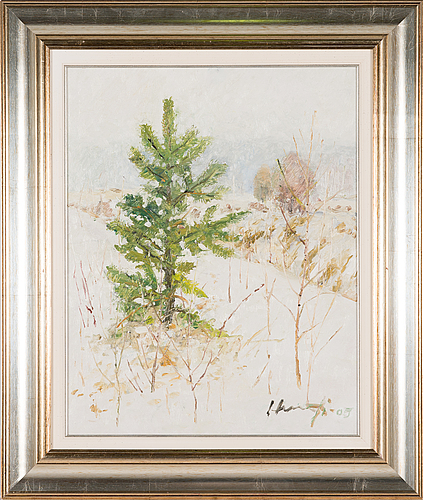 Armas hursti, oil on board, signed and dated-09.