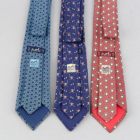 Hermès, slipsar, 3 st.