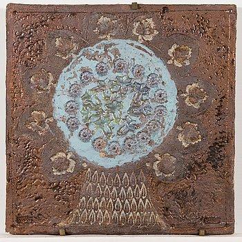 Francesca Mascitti-Lindh, relief, stengods, signerad F. Lindh Arabia.