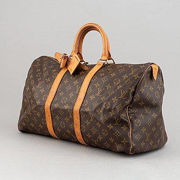 Louis Vuitton, a monogram canvas weekend bag, 'Keepall 45', 1991.