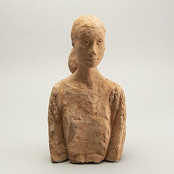 Wive Larsson, sculpture, signed, terracotta.