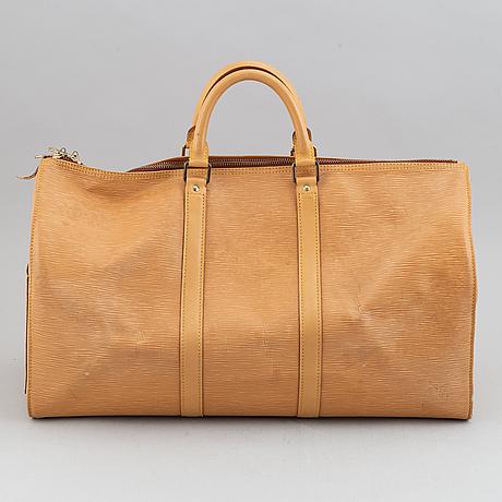 Louis vuitton, am epi 'keepall 50' weekend bag.