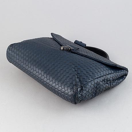 Bottega veneta, an intrecciato leather briefcase.