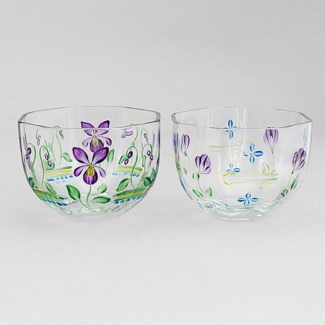 """Eva englund, glass, 13 pieces, including """"maja"""" / """"linnea"""", orrefors."""