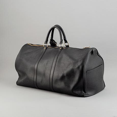 Louis vuitton, a black epi 'keepall 55' weekend bag, 2004.