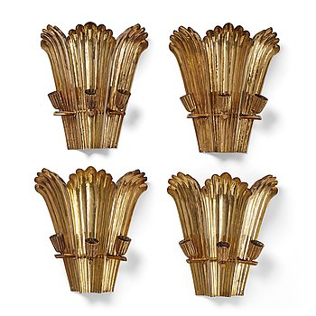 282. A.W. Borgh, four Swedish Grace wall sconses, probably 1920-1930's.