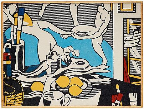 """Richard h. pettibone, """"lichtenstein, the artist's studio: the dance, 1974"""" (1975)."""