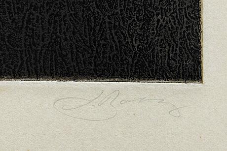Jörgen boberg, etching, signed, numbered 18/100.
