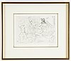 Pablo picasso, drypoint, stamp signed and numbured 48/50.