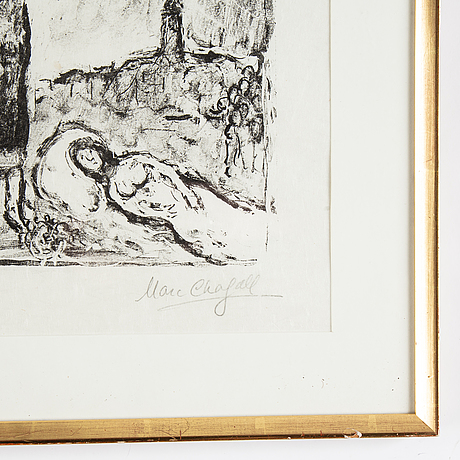 Marc chagall, lithograph, signed and numbered 23/30.