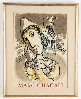 Marc Chagall, efter färglitografi, bär numrering 420/1000 med blyerts.