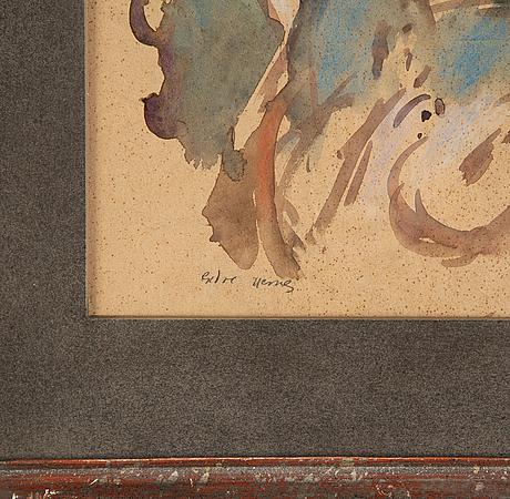Endre nemes, watercolour, signed.